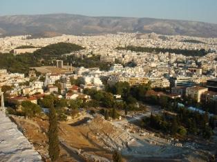 Афины, центр, вид с Акрополя