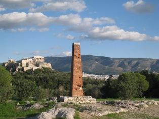 Афины, Акрополь, вид с холма Филопапу
