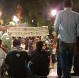 Палаточный городок протестующих
