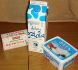 Масло из овечьего молока, молоко и фета
